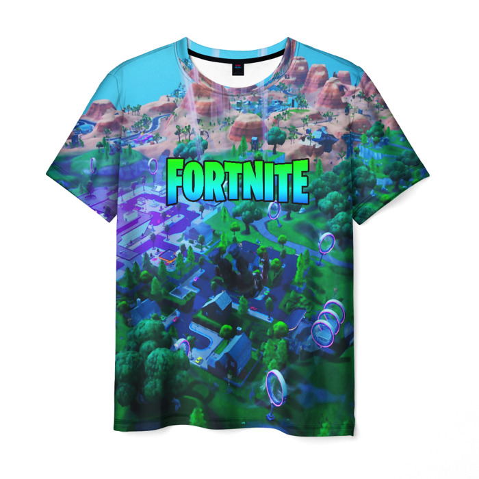 Collectibles Men'S T-Shirt Merchandise Landscape Fortnite Title