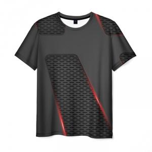 Merchandise Men'S T-Shirt Outline Title Metal Gear Black Print