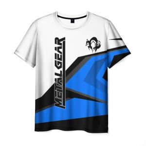 Merchandise Men'S T-Shirt White Design Clothes Metal Gear