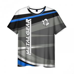 Merchandise Men'S T-Shirt Gray Metal Gear Print Title Design