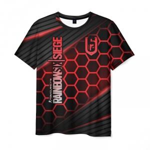 Merch Men'S T-Shirt Merchandise Text Rainbow Six Siege