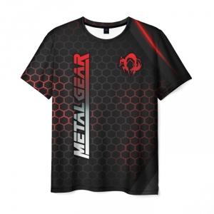 Merchandise Men'S T-Shirt Text Metal Gear Merch Logo