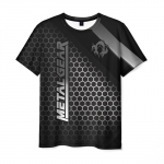 Collectibles Men'S T-Shirt Black Metal Gear Text Merch Logo
