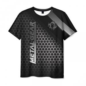 Merchandise Men'S T-Shirt Black Metal Gear Text Merch Logo