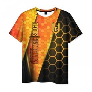 Merch Men'S T-Shirt Clothes Design Rainbow Six Siege Title