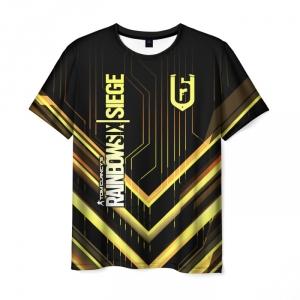 Merch Men'S T-Shirt Design Merch Rainbow Six Siege Print
