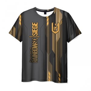 Merch Men'S T-Shirt Label Merch Rainbow Six Siege Print