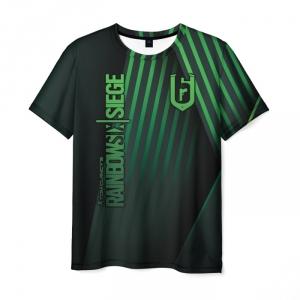 Merch Men'S T-Shirt Logo Title Black Rainbow Six Siege