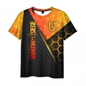 Merch Men'S T-Shirt Design Rainbow Six Siege Lettering