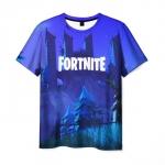 Collectibles Men'S T-Shirt Blue Scene Design Fortnite