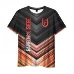 Merchandise Men'S T-Shirt Rainbow Six Siege Design Lettering