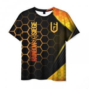 Merch Men'S T-Shirt Label Figure Rainbow Six Siege