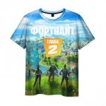 Merch Men'S T-Shirt Chapter 2 Fortnite Scene Graphic