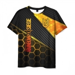 Collectibles Men'S T-Shirt Black Print Outline Rainbow Six Siege