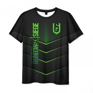 Merch Men'S T-Shirt Outline Black Rainbow Six Siege