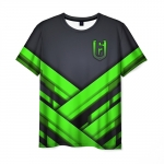Collectibles Men'S T-Shirt Black Text Logo Rainbow Six Siege