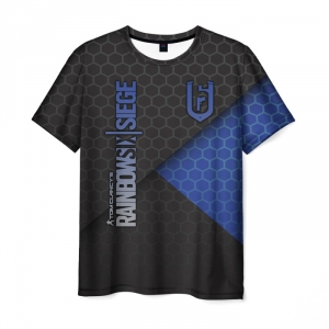 Merch Men'S T-Shirt Title Rainbow Six Siege Black