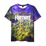 Merchandise Men'S T-Shirt Fortnite Merch Landscape Print Title