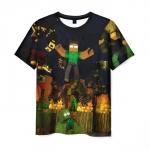 Merch Men'S T-Shirt Minecraft Scene Print Merch