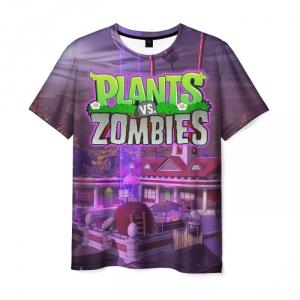 Collectibles Men'S T-Shirt Sign Title Scene Print Plants Vs Zombies