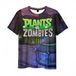 Merch Men'S T-Shirt Text Print Plants Vs Zombies Scene Design