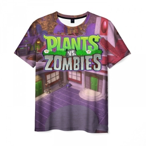 Collectibles Men'S T-Shirt Image Print Design Plants Vs Zombies