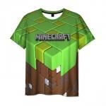Merchandise Men'S T-Shirt Apparel Print Minecraft Title