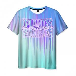 Collectibles Men'S T-Shirt Gradient Title Plants Vs Zombies Print