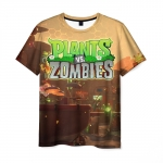 Merchandise Men'S T-Shirt Scene Clothes Print Plants Vs Zombies