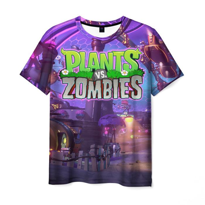 Merchandise Men'S T-Shirt Design Game Plants Vs Zombies Print