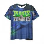 Merchandise Men'S T-Shirt Scene Design Print Merch Plants Vs Zombies