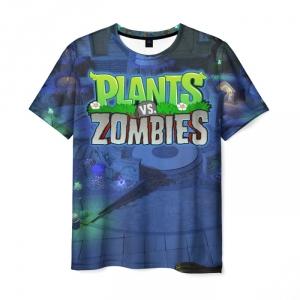 Collectibles Men'S T-Shirt Scene Design Print Merch Plants Vs Zombies