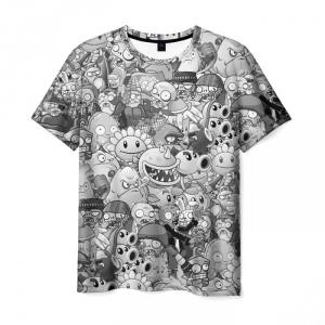 Collectibles Men'S T-Shirt Plants Vs Zombies Pattern Apparel