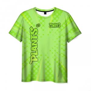 Collectibles Men'S T-Shirt Print Game Plants Vs Zombies Green Merch