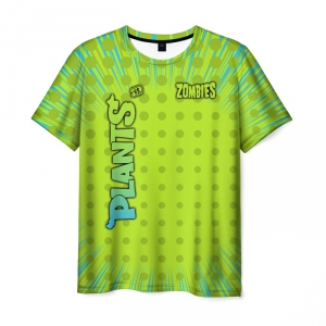Collectibles Men'S T-Shirt Green Game Plants Vs Zombies Print