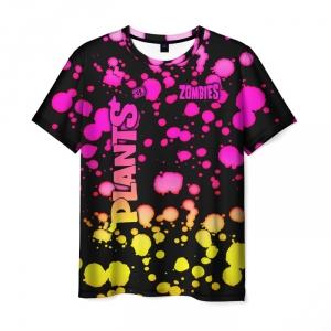 Collectibles Men'S T-Shirt Gradient Pattern Plants Vs Zombies