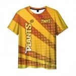 Merchandise Men'S T-Shirt Plants Vs Zombies Yellow Design Clothes