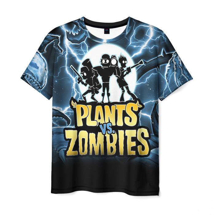 Merchandise Men'S T-Shirt Merchandise Design Plants Vs Zombies