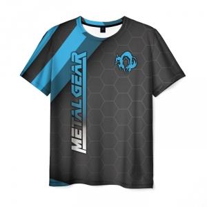 Merchandise Men'S T-Shirt Black Design Text Metal Gear