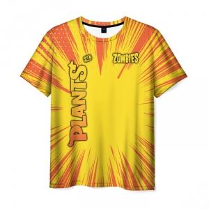 Collectibles Men'S T-Shirt Yellow Title Plants Vs Zombies Apparel