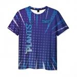 Collectibles Men'S T-Shirt Blue Design Print Title Plants Vs Zombies
