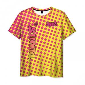 Collectibles Men'S T-Shirt Yellow Pattern Plants Vs Zombies Merch
