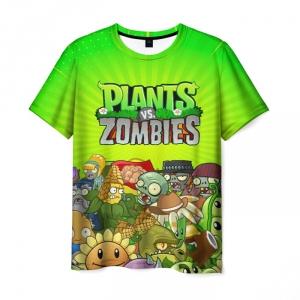 Collectibles Men'S T-Shirt Plants Vs Zombies Green Scene Print