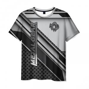 Merchandise Men'S T-Shirt Gray Print Clothes Metal Gear