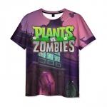 Collectibles Men'S T-Shirt Title Design Merch Plants Vs Zombies
