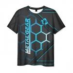 Merchandise Men'S T-Shirt Metal Gear Black Title Lable