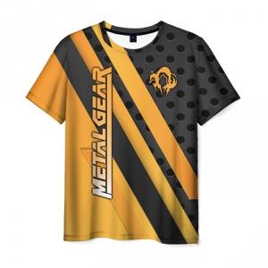 Merchandise Men'S T-Shirt Orange Title Metal Gear Merch