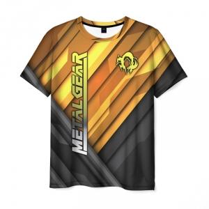 Merchandise Men'S T-Shirt Metal Gear Merch Print Title