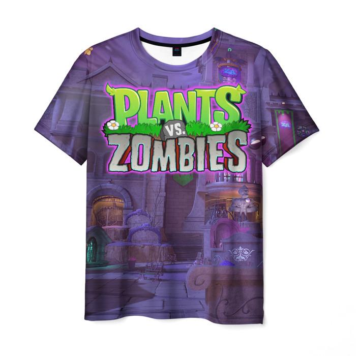 Merch Men'S T-Shirt Merchandise Plants Vs Zombies Text