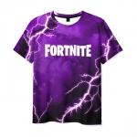 Collectibles Men'S T-Shirt Fortnite Purple Lighting Print
